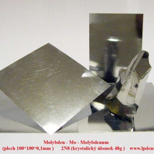Molybden - Mo - Molybdenum  Metal Sheet Plate ,Crystalline fragment-Sample-glossy surface.