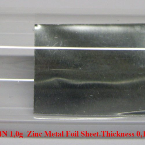 Zinek - Zn - Zincum  4N 1,0g  Zinc Metal Foil Sheet.Thickness 0,1mm  www.lpdental.cz.jpg