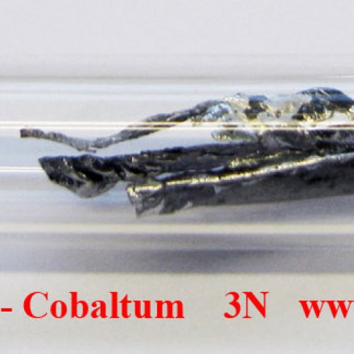 Kobalt - Co - Cobaltum melted by electromagnetic induction.