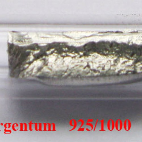 Stříbro - Ag - Argentum  Sample-glossy surface.