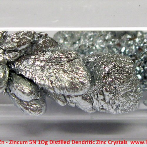 Zinek - Zn - Zincum 5N 1Og Distilled Dendritic Zinc Crystals  3.jpg
