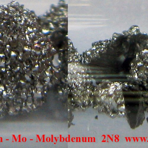 Molybden - Mo - Molybdenum Crystalline fragments of molybdenum with oxide-free surface.