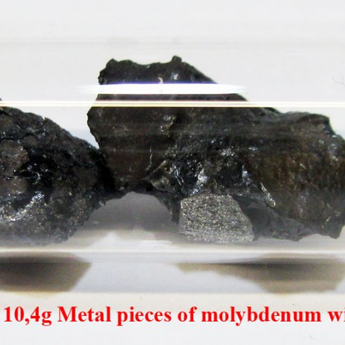 Molybden - Mo - Molybdenum 2N8 10,4g Metal pieces of molybdenum with oxide surface. 1.jpg