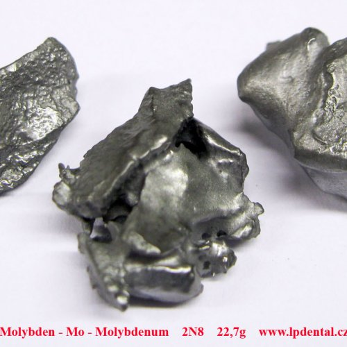 Molybdenum fragments - melted by electromagnetic induction.  Sample-sand blasted surface.