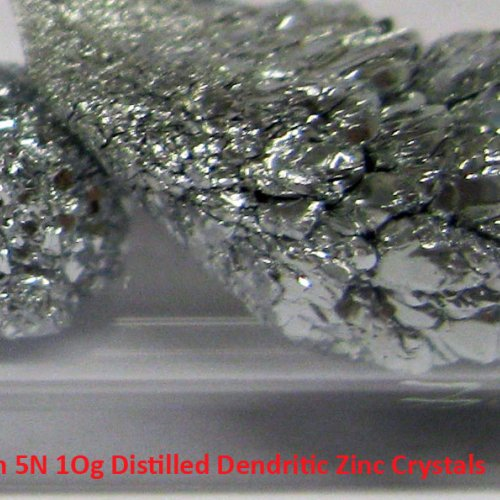 Zinek - Zn - Zincum 5N 1Og Distilled Dendritic Zinc Crystals  4.jpg