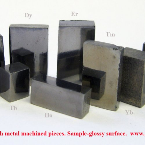 Rare earth metal machined pieces. Sample-glossy surface..jpg
