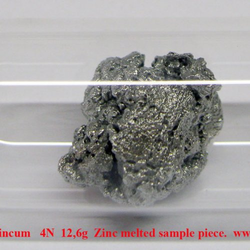 Zinek - Zn - Zincum   4N  12,6g  Zinc melted sample piece..jpg