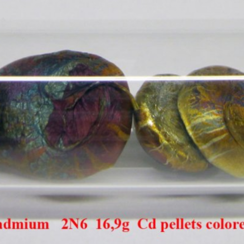 Kadmium - Cd - Cadmium 2N6 16,9g Cd pellets colored..png