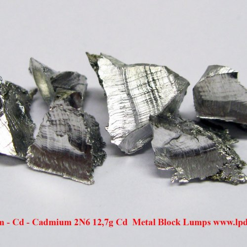 Kadmium - Cd - Cadmium 2N6 12,7g Cd  Metal Block Lumps 1.jpg