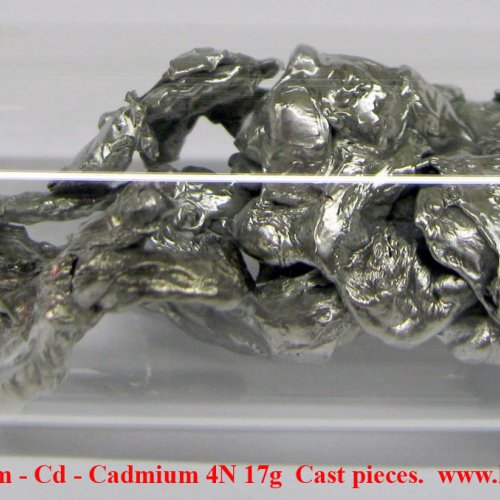 Kadmium - Cd - Cadmium 4N 17g  Cast pieces..jpg