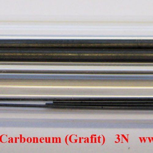 Uhlík - C - Carboneum-grafit. Carbon rods