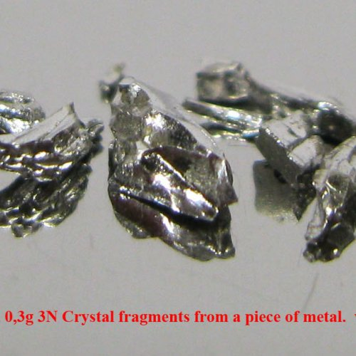 Iridium-Ir-Iridium 0,3g 3N Crystal fragments from a piece of metal. 8.jpg