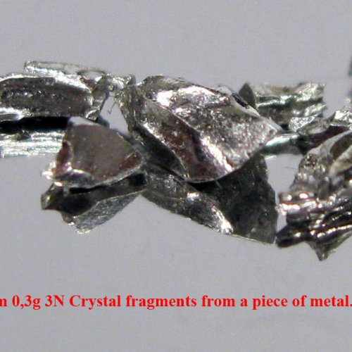Iridium-Ir-Iridium 0,3g 3N Crystal fragments from a piece of metal. 6.jpg