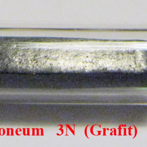 Uhlík - C - Carboneum Sample-glossy surface.