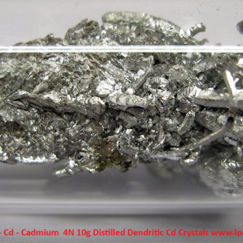 Kadmium - Cd - Cadmium  4N 10g Distilled Dendritic Cd Crystals 4.jpg