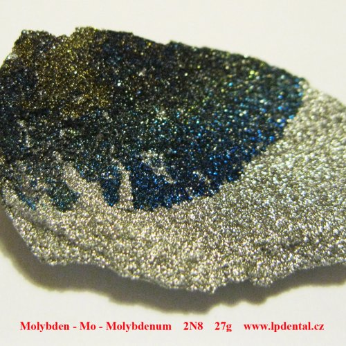 Molybden - Mo - Molybdenum Crystalline fragment of molybdenum with oxide surface.