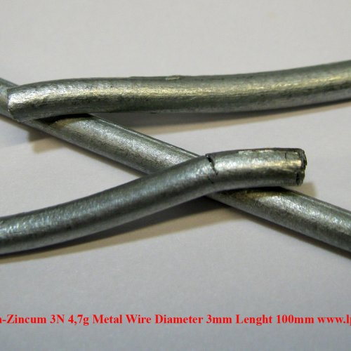 Zinek-Zn-Zincum 3N 4,7g Metal Wire Diameter 3mm Lenght 100mm.jpg