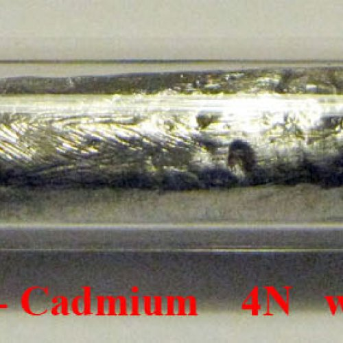 Kadmium - Cd - Cadmium Sample-rough surface.