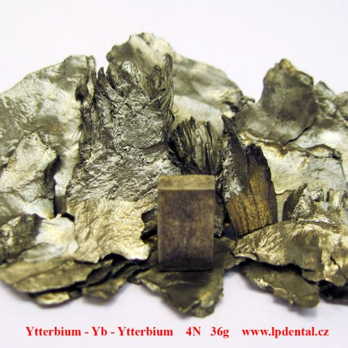 Ytterbium - Yb - Ytterbium Sublimed Metal Lumps. Metal machined piece/Sample-glossy surface.
