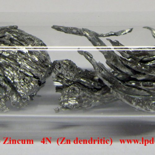 Zinek 2 - Zn - Zincum   4N  Zinc metal dendritic sample piece.