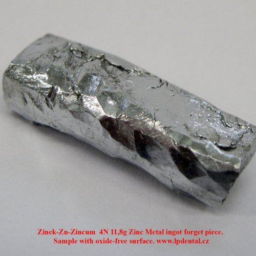 Zinek-Zn-Zincum  4N 11,8g Zinc Metal ingot forget piece. Sample with oxide-free surface. 1.jpg