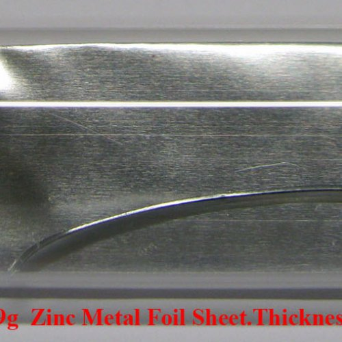Zinek - Zn - Zincum  4N 1,9g  Zinc Metal Foil Sheet.Thickness 0,1mm.jpg