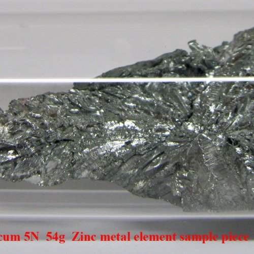 Zinek - Zn - Zincum 5N  54g  Zinc metal element sample piece.jpg