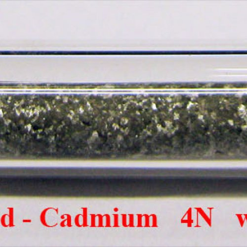 Kadmium - Cd - Cadmium Metal Rod. Sample etched sufrace.