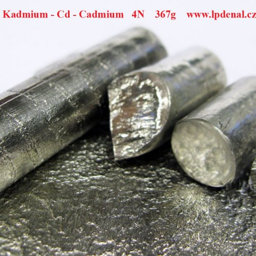 Kadmium - Cd - Cadmium  Melted piece shiny -glossy sufrace. Metal Rod